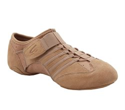 Jazz let sneakers beige stretch med velcro Capezio