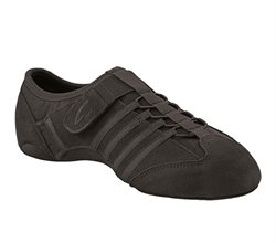 Jazz let sneakers sort stretch med velcro Capezio