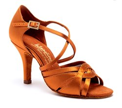 International dansesko Mia tan satin elite heel