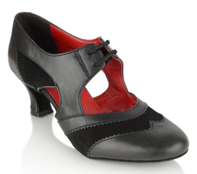 90196e59156 Rød og sort Rayrose dansesko til tango og flamingo