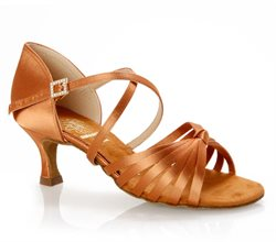 Supadance narrow latin dansesko dark tan