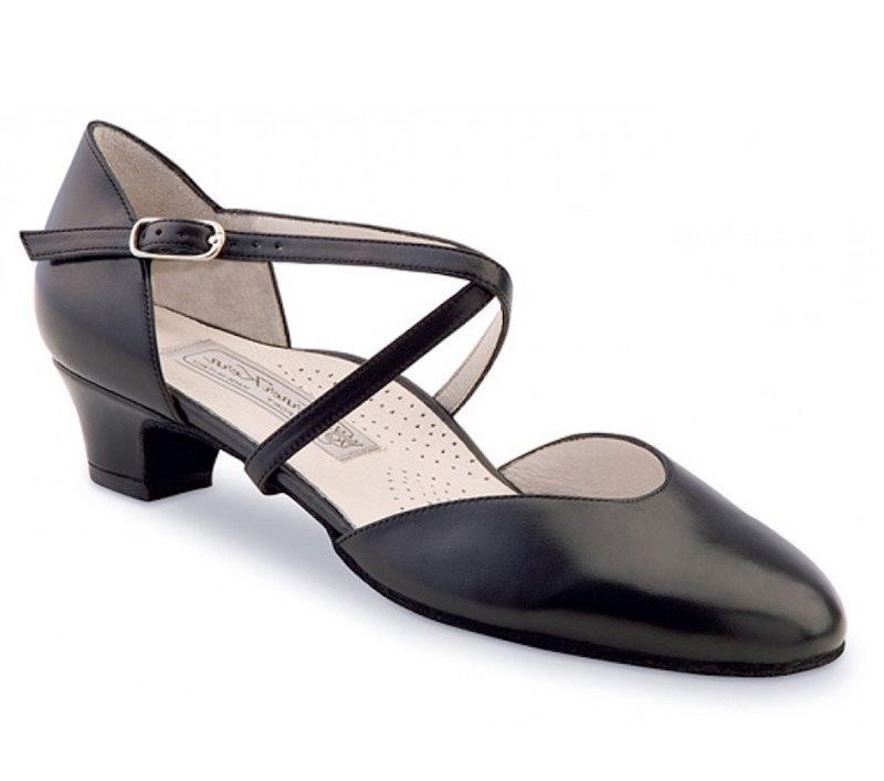 Werner Kern dansesko sort skind 3,4 cm hæl